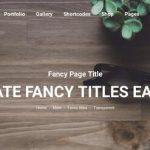 fancy titles