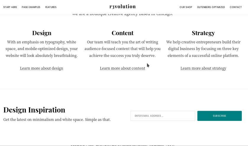 revolution pro home page