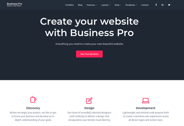 StudioPress Business Pro theme review
