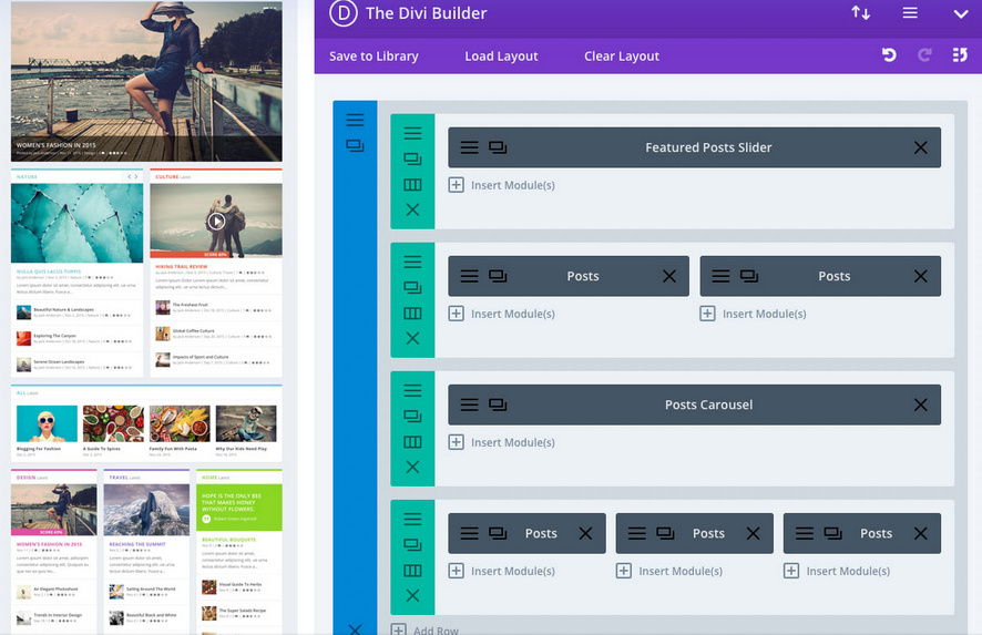 Extra customization with divi builder