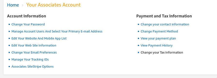 account settings payment