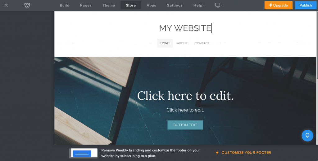 box only Weebly Website builder
