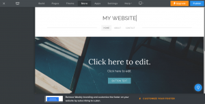 Weebly site editor