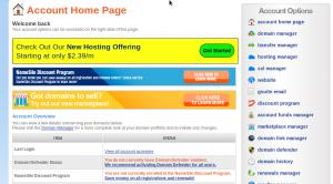 Namesilo hosting review: UI