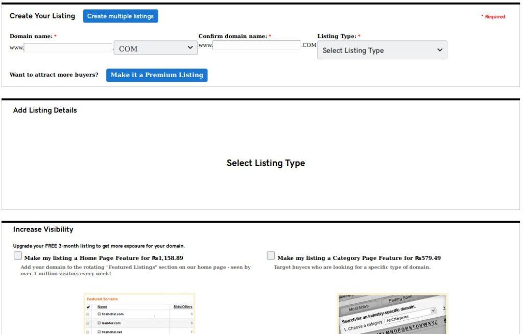 create a listing