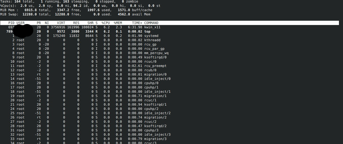 Linux OS terminal