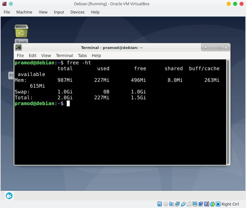 Debian RAM usage