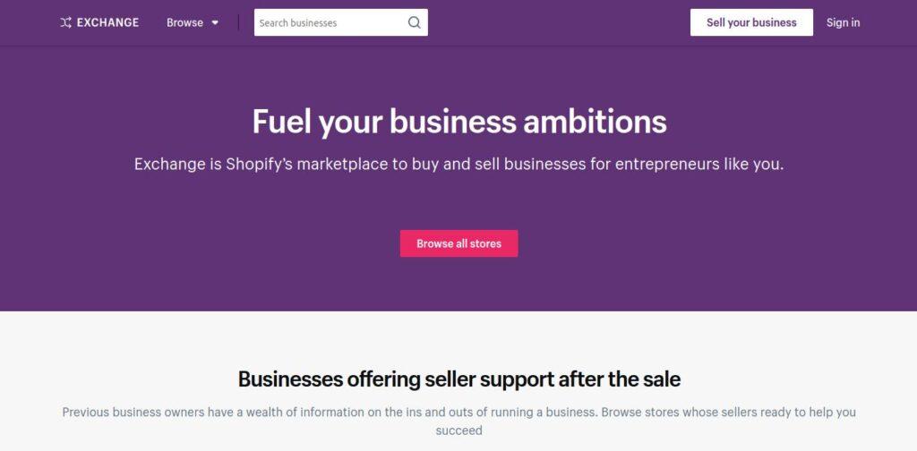 Shopify Exchange Marketplace