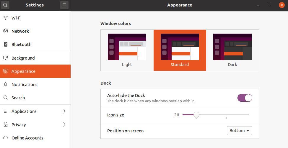 Ubuntu color themes