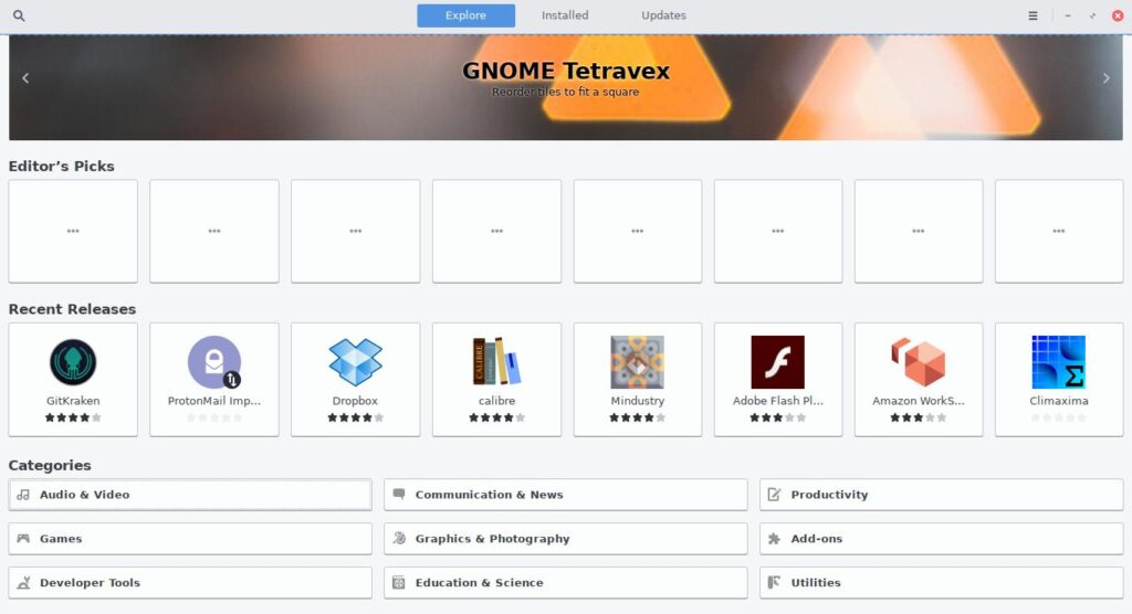 Fedora Gnome Software