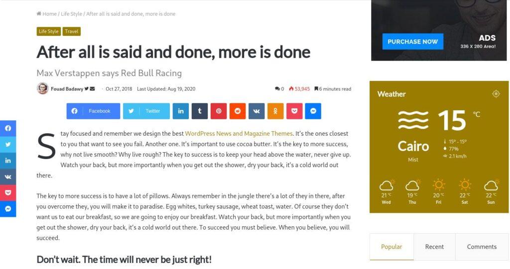 Blog Post - Jannah WordPress theme