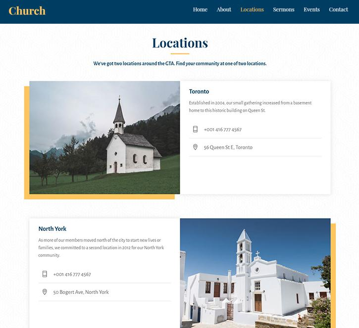 themify ultra church