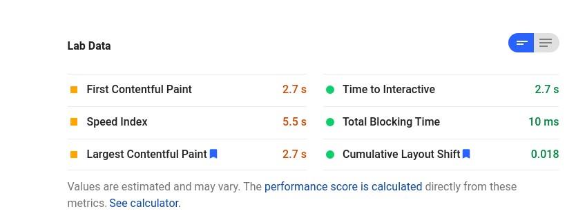 GoDaddy go core web vitals score mobile